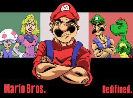 Mario Bros. Redifined. by LightBombMike