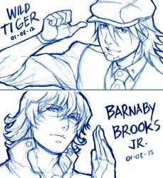 Tiger and Bunny Sketch by Cyvein