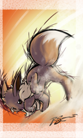 Eevee's Sand Attack by JA-punkster