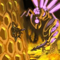 Jackal vs. a space lava bee? by oh8