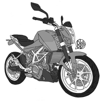ktm duke 250 by budoxesquire