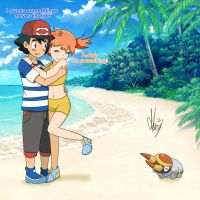 Ash and Misty in Alola by Marsy3