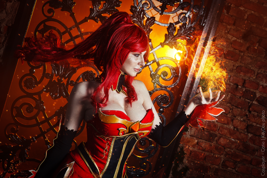 Hell fire Hell bitch. Lina dota 2 cosplay by amio-mio