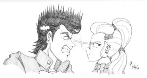 Josuke vs Sugarcoat by mayorlight