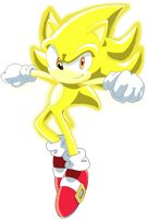 Super Sonic the Hedgehog by TheLeoNamedGeo