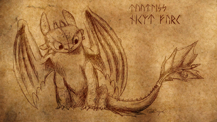 Toothless Wallpaper by Lissyah