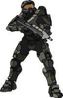 Halo 4 Master Chief Lineart [HQ] by malde37
