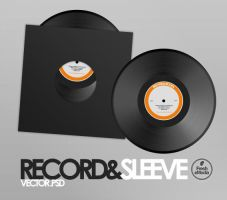 Record and Sleeves PSD by freshemedia