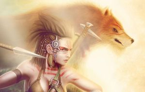 Ferae Cover Colors Close Up by John-Indian