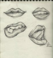 Lips sketches by LadyFabcurly