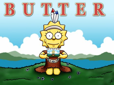Lisa Simpson Butter by bennettua