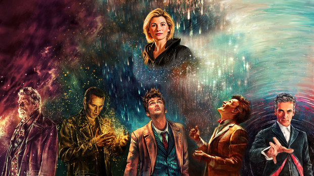 All the New Doctors (and lucky 13!) - Wallpaper by AgentRustyFox