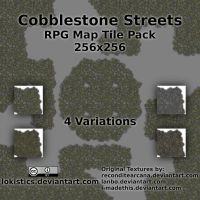 Cobblestone Streets - Free RPG Map Tile Pack by Lokistics