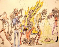 Zombie Party by pythonorbit