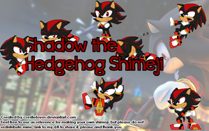 Shadow the Hedgehog Shimeji by Star--Tracer