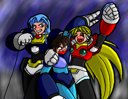 Three Reploids Walk Into a Bar by fortissimo