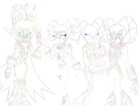 Happy Birthday to Tikal! (Color Outline) by Elinital