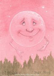 Pink Moon ACEO by yaamas