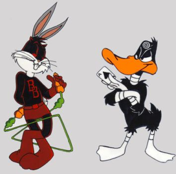 Bugs and Daffy by jdhgoodgrief