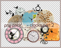 PNG PACK 18 - CLOCKS PART 2 by ChantiiGG