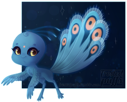 Duusu - peacock kwami by frostedpuffs
