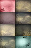 8 Free Floral Composite Textures + Brushes Set 2 by ibjennyjenny