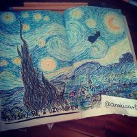 Van Gogh - Starry Night ( wreck this journal) by Anna655