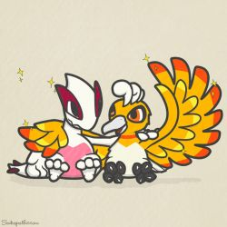 Ho-oh and Lugia BFFs by TK421LovesYou