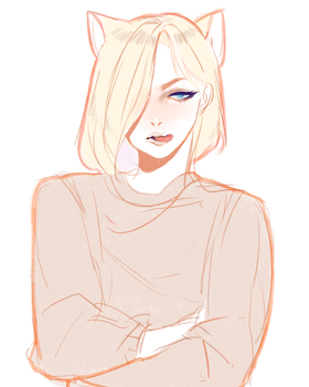 Yurio kitty by pinkincubi