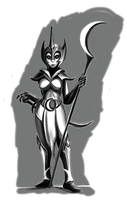Nightmare Moon humanization scetch by ponsce