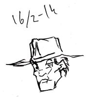 Western Armsdealer Rough Sketch by Jeppe Roemer by TolkyJr