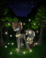 In the forest at night by LoL-Katrina