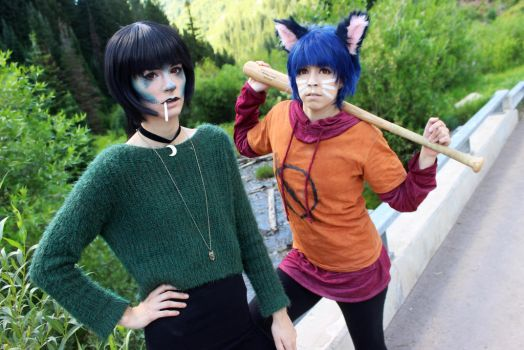 Night in the woods - Mae and Bea! by AliCat-Cosplay
