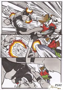 feline vs husky_comic comission_sept2016_pg02 by AlexBaxtheDarkSide
