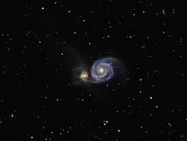 M51 - Whirlpool Galaxy Composite by DoomWillFindYou
