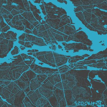 Stockholm by MapMapMaps