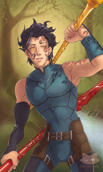 Diarmuid - Six of Wands by blk-kitti