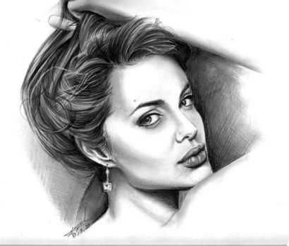 : Angelina Jolie : by Maggy-P