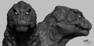 zG16 SHIN GODZILLA head concept alternate views by dopepope