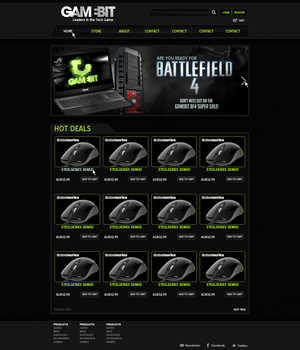 GameBit Website Mock-up by MasFx