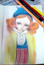 pencil colour training - doll 2 by imaipack