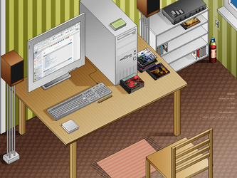 PIXELATED workplace v2 by softshapeart