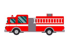 Firetruck Free Flat Vector Illustration by superawesomevectors