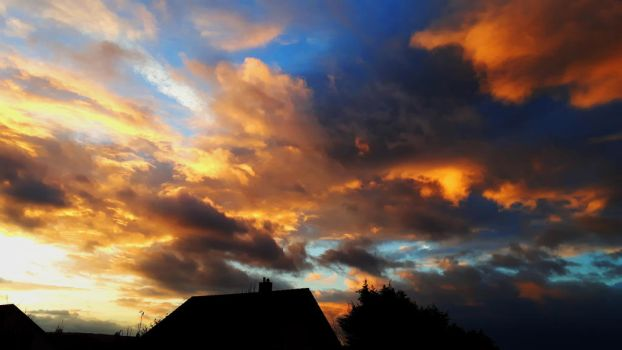 Couloured Explosion I - Evening Skies XX by TheDrawnDen93
