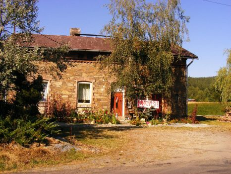 The station in little village, Northern Moravia by Lepidodendron