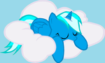 Princess Aroura Time sleeping on cloud by Que890theEevee