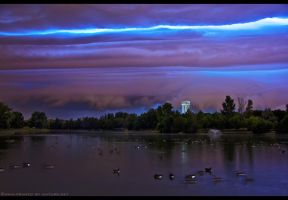 Beast Over Geese by FramedByNature