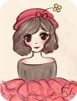 Minnie Mouse Sketch by mochatchi
