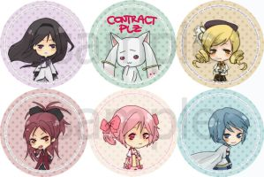 Madoka Pin Buttons Preview by eXtrio