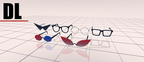 [MMD] Homestuck glasses pack DL 07/01/18 UPDATE by happy-eevee